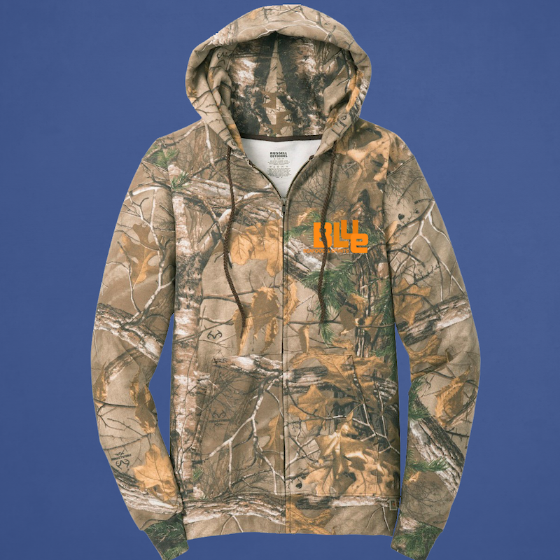 Camo Full-Zip Hooded Sweatshirt