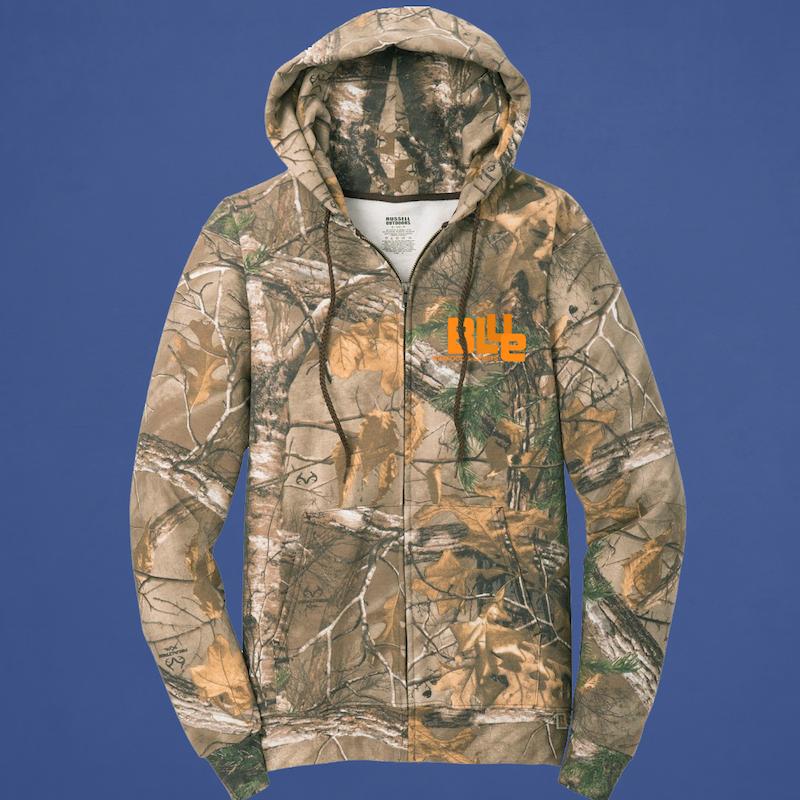 Camo Full-Zip Hooded Sweatshirt
